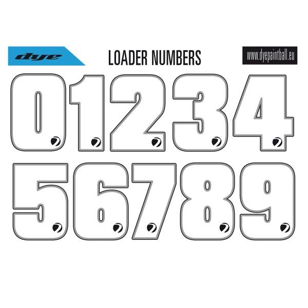 Dye Loader Number Stickersheet