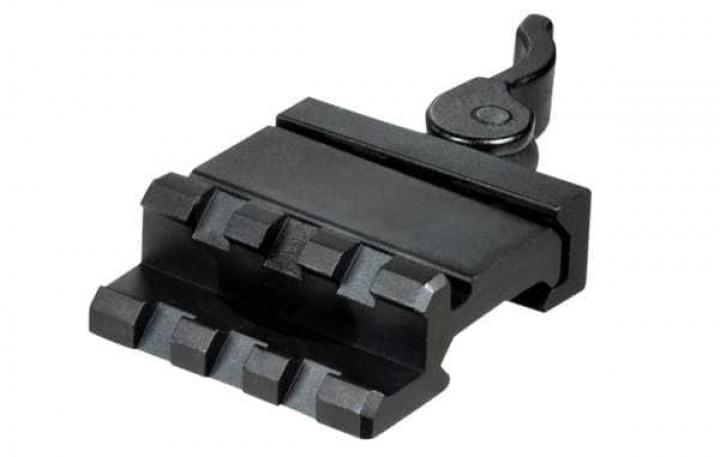 UTG 3-Slot QD Lever Mount Adaptor and Riser, Medium Profile (15mm)