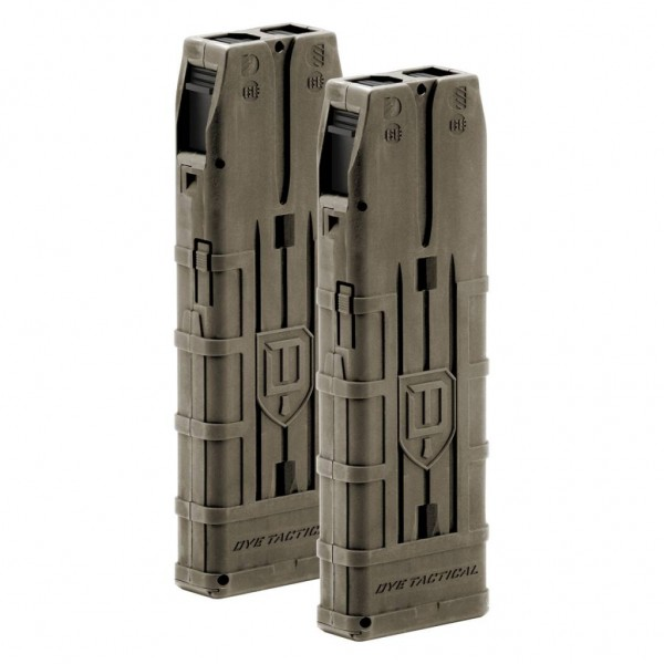 DAM TACTICAL MAGAZINE - 20 ROUND 2 PACK Dark Earth