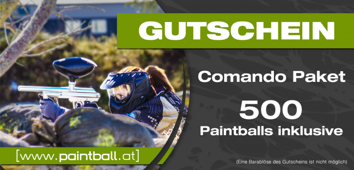GS Comando Paket 500 Paintballs