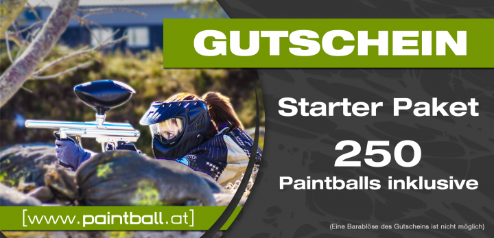 GS Starter Paket 250 Paintballs