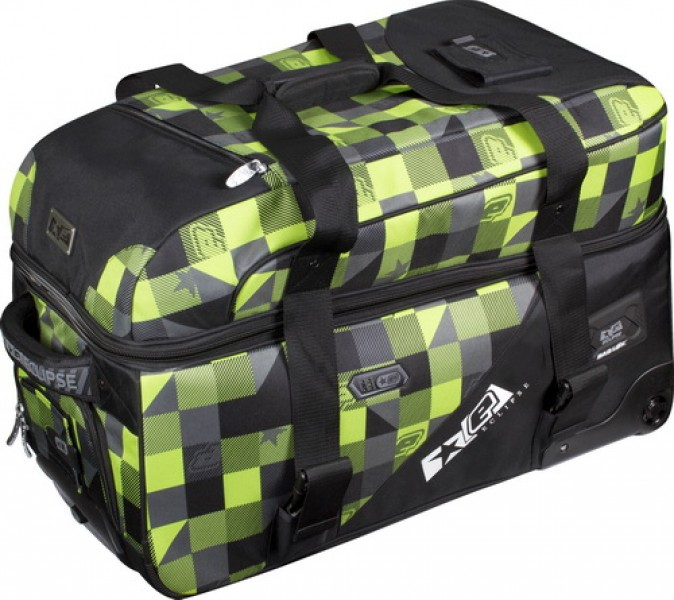 Planet Eclipse Split Bag Plaid Lime